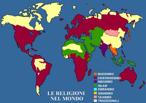 Religioni Nel Mondo Cartina.Le Religioni Dati Statistici